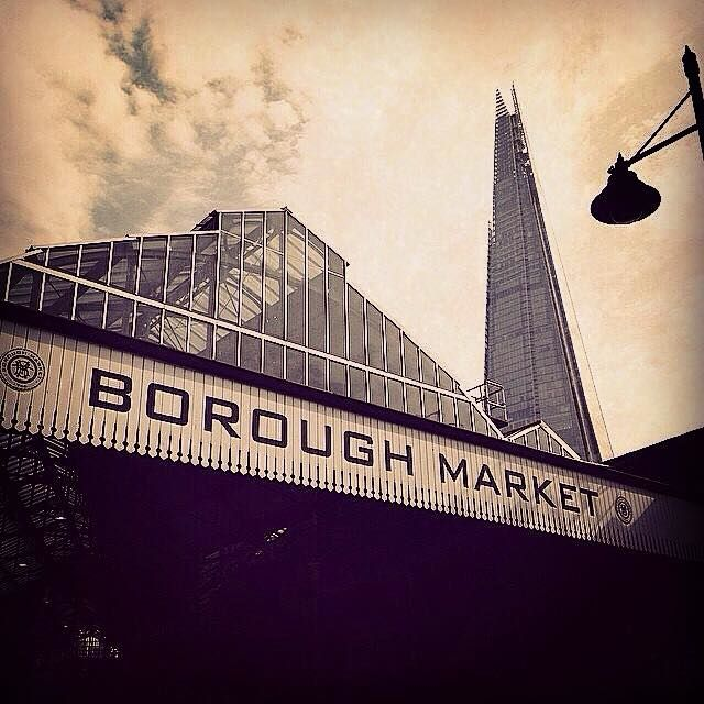 Quite a view. Quite a Market. Borough Market in London is a foodie delight!