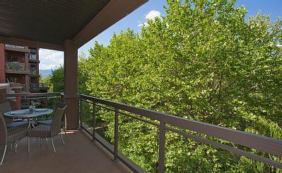 Playa del Sol 370  - View from back creekside balcony looking west. #playadelsol370 #kelowna #vacation #rental #vrbo