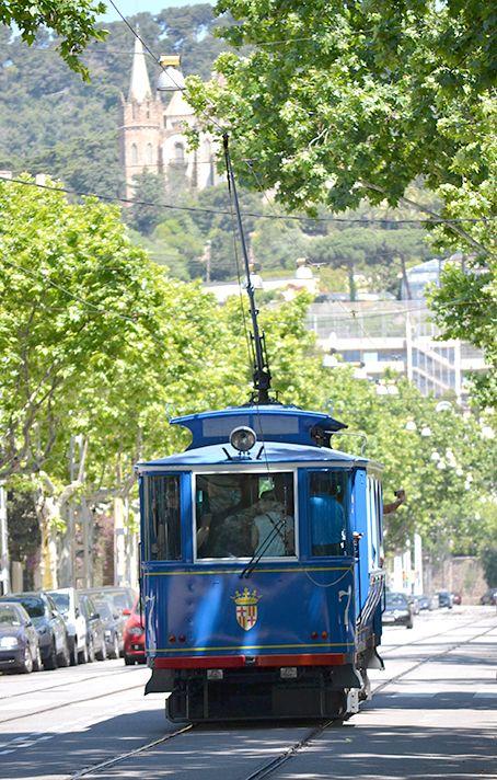 Barcelona - 'Tramvia Blau' - Blue Tram to Tibidabo - Catalonia.