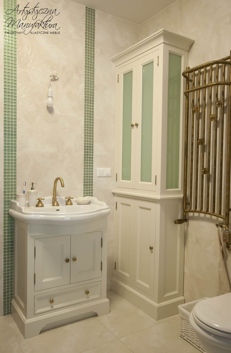 stylowy komplet do małej łazienki, bathroom vanity set, bathroom wooden furniture, classic furniture - wykonanie by Artystyczna Manufaktura