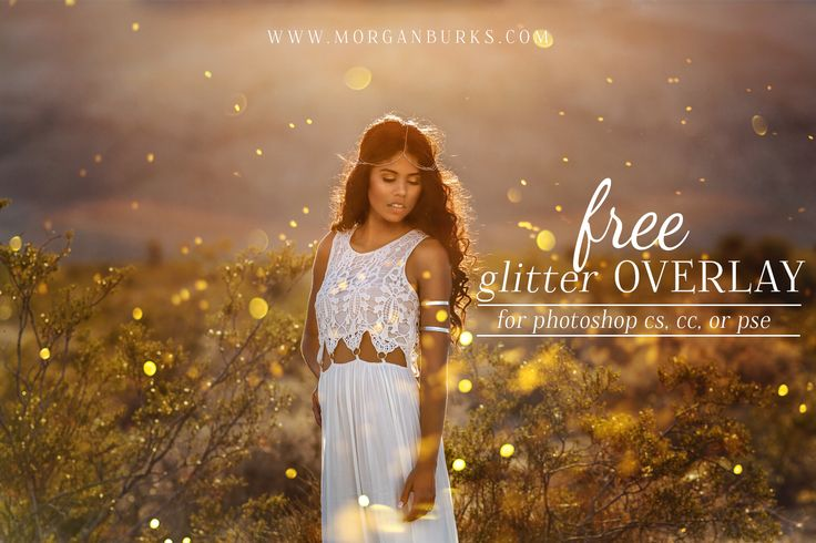 Free Glitter Overlay for Photoshop CS, PS CC, & PSE
