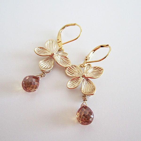 A personal favorite from my Etsy shop https://www.etsy.com/ca/listing/266048344/gold-plated-hydrangea-flower-earrings