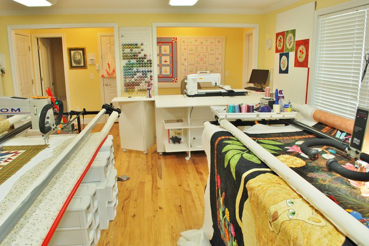 Wow Studio With Two Longarms Quilting Room Sewing