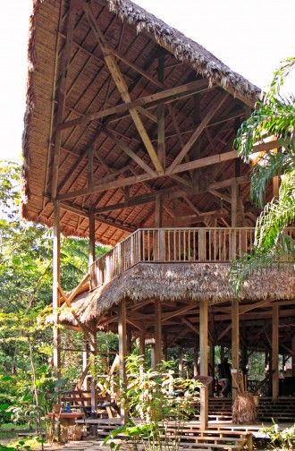 The lodge Refugio Amazonas, Tambopata National Reserve, Amazon Area, Peru, South America