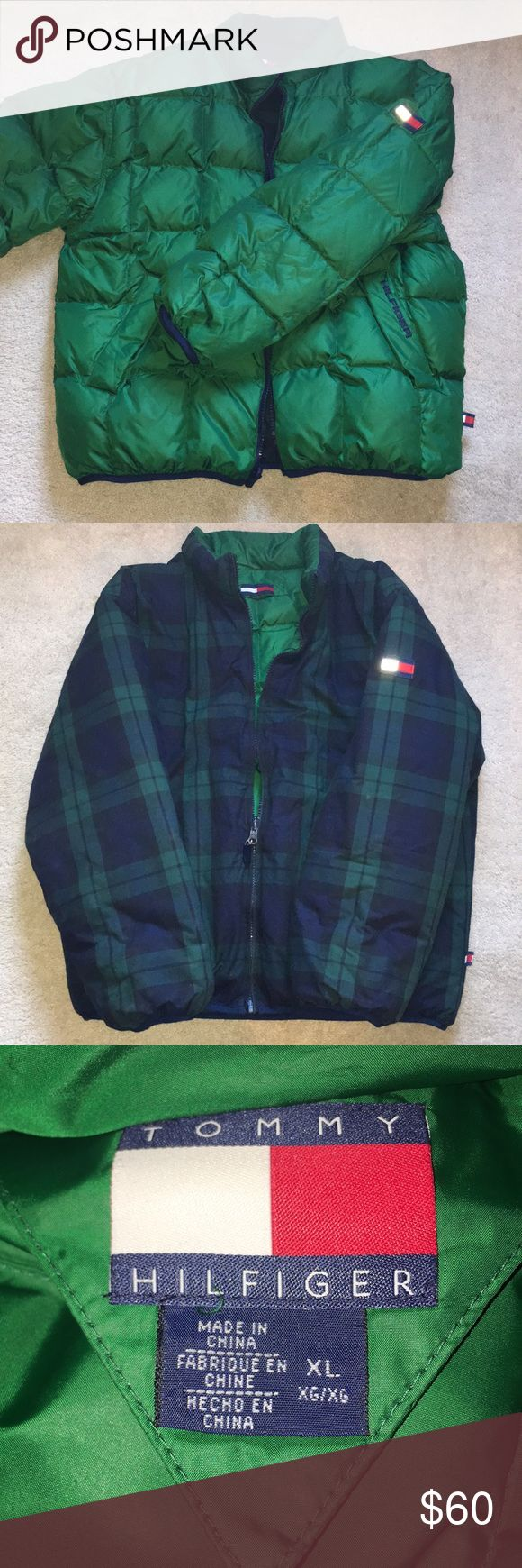 Reversible Jacket Tommy Hilfiger men's XL down jacket; reversible; 2 pockets inside and outside; very warm for weather! Tommy Hilfiger Jackets & Coats Puffers