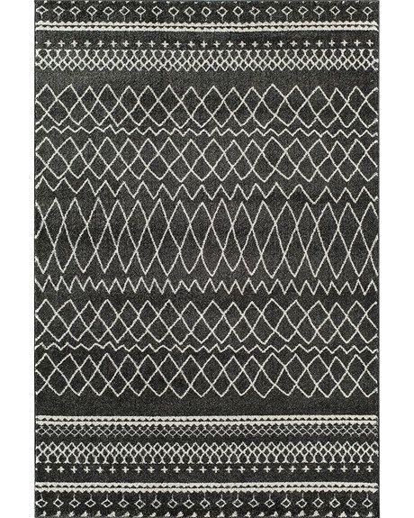 "large charcoal rug | Tangier 5'3"" x 7'10"" Charcoal Rug"