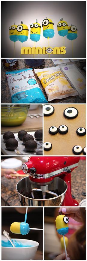 YAY! We created an EASY version for the Minions Cake Pops Recipe! It does take a few hours, but made for those with limited skills and limited baking tools!