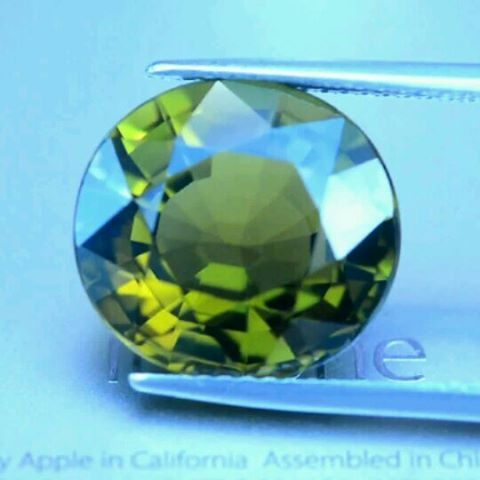 "23 Likes, 3 Comments - Suma Boutique (@sumagemboutique) on Instagram: ""Certified 8.10 Carats Untreated Natural Yellowish Green Tourmaline  Dimensions : 12.9x12.1x7.7 mm…"""