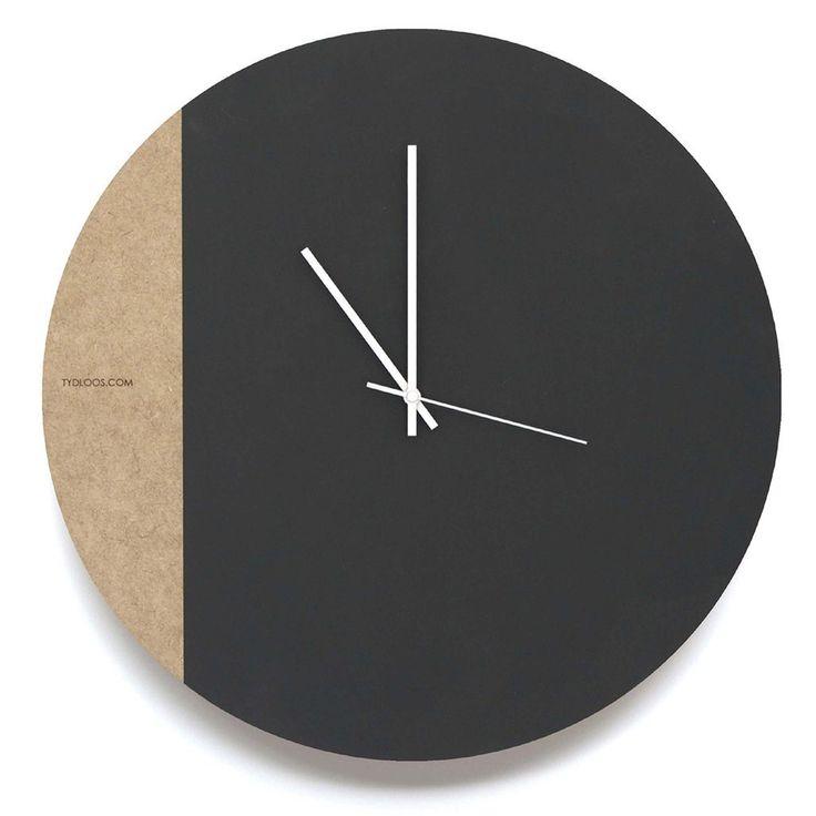 Large Black Board Wall Clock