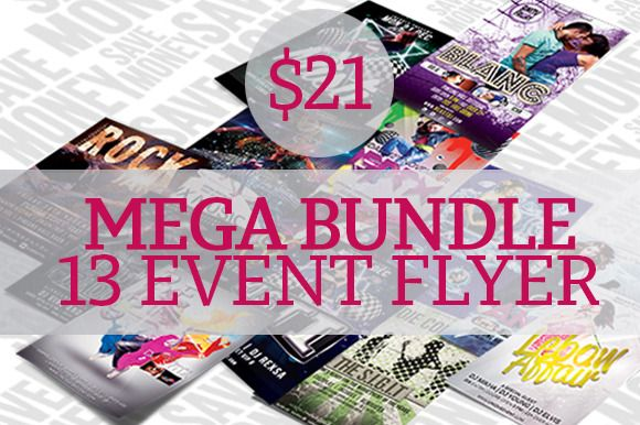 Check out Mega Bundle 13 Event Flyer Template by scilaverna on Creative Market