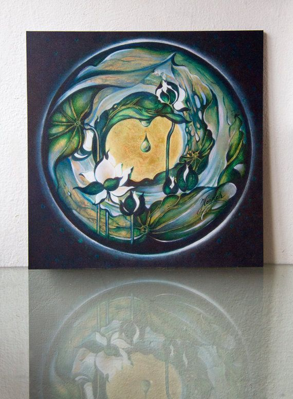 """MANDALA of REGENERATION and NEW LIFE """"Nectar of White Lotus"""" from the series """"In the Lotus Land"""""""