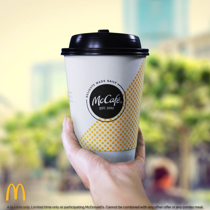 Nothing comes before coffee, so get a taste of our new line of espresso drinks from McCafé. Café-quality from beans to espresso machines, featuring new recipes and re-crafted classics, at participating McDonald's. Try a Caramel Macchiato, Mocha, Cappuccino or Americano made with 100% arabica beans and Rainforest Alliance Certified.