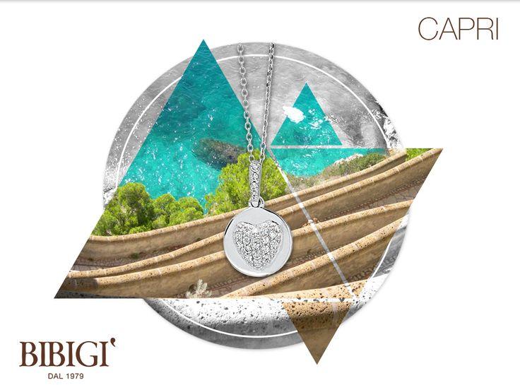 #Bibigi | Collezione #Capri | Collana in oro bianco e diamanti.