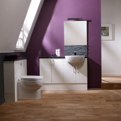 Website Picture Gallery  Purple Bathroom Aruba white fitted bathroom furniture Roper Rhodes available from