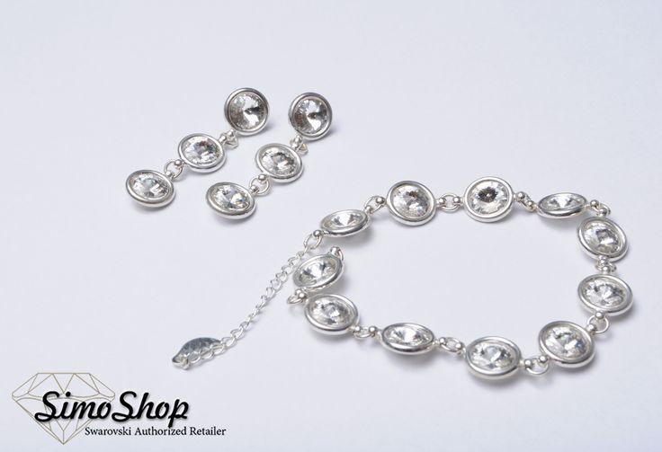 Set inel și brățară din argint 925 cu cristale swarovski. #simoshop #bijuterii #accesorii #argint #swarovskicrystals #swarovski
