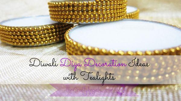 Diwali diya decoration idea with tealights