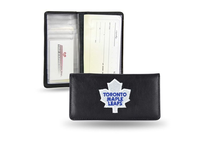 Toronto Maple Leafs Team Embroidered Leather Checkbook Cover
