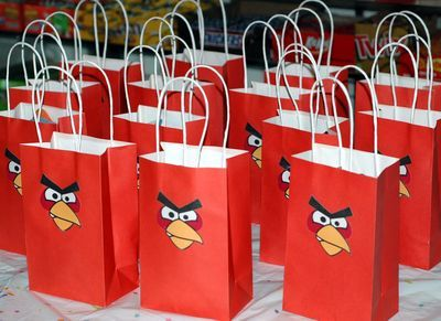 angry birds: Gifts Bags, Birds Favors, Birds Gifts, Birds Goodies, Birds Bags, Favors Bags, Birds Treats, Birds Parties, Angry Birds