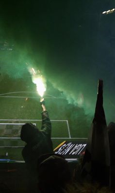 No pyro, no party #ultralife #sporting #curva