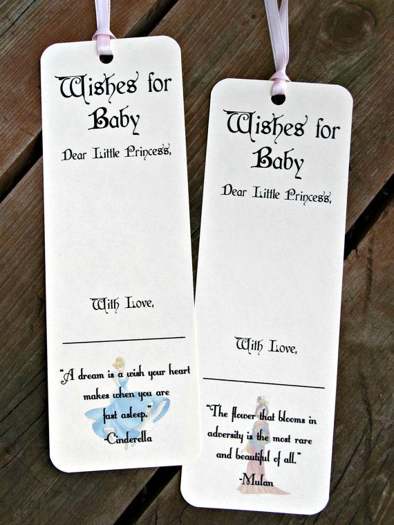 Disney Princess Theme - Wishing Tree Tags for baby shower or birthday party - by FreeSpiritCrafting