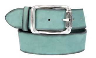 Buckles & Belts - Belt/Gürtel - New Spring Collection 2016 - Torean - Nubuk-Leather - menta - mint - Design in SWITZERLAND made in ITALY https://www.facebook.com/BucklesBelts