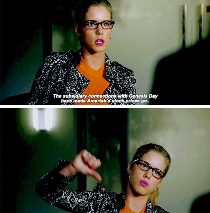 """The subsidiary connections with Genesis Day have made Amertek's stock prices go..."" - Felicity Smoak #Arrow"