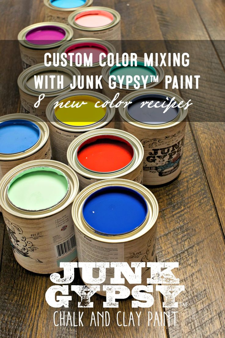 8 new colors, all mixed using shades of Junk Gypsy™ Paint