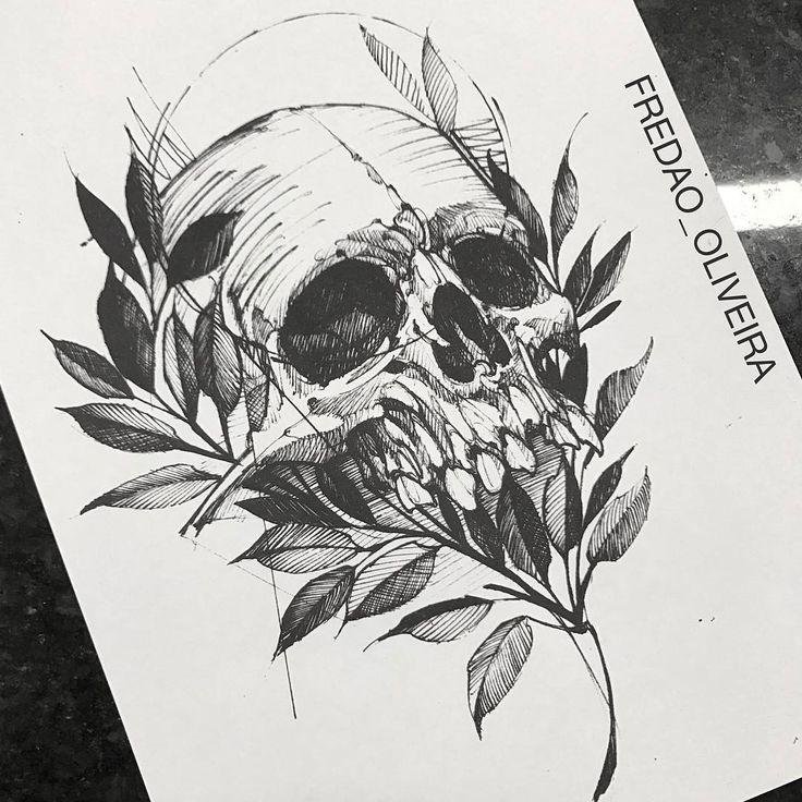 """11k Likes, 42 Comments - Fredão Oliveira (@fredao_oliveira) on Instagram: """"Skull #electricink"""""""