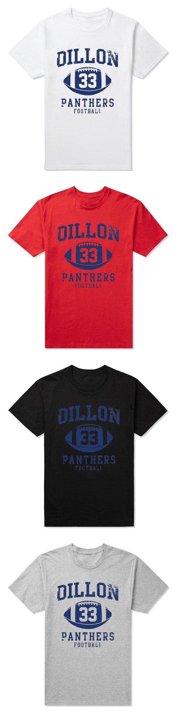 High Quality friday night  Dillon Panthers  tim riggins dillon 33   t-shirt  Camisetas Cloth  panthers