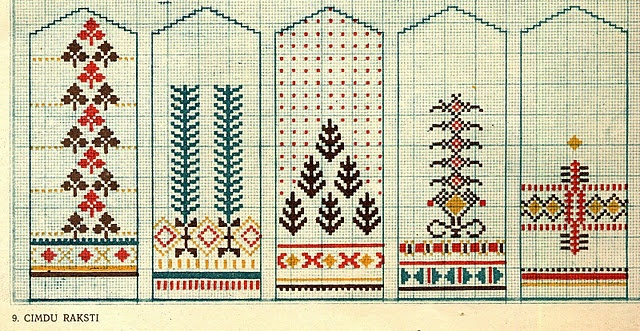 Latvian designs for mittens.