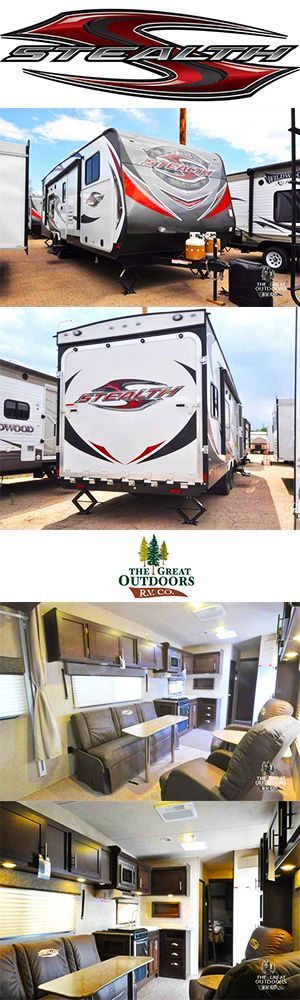 www.thegreatoutdoorsrv.com 2016 FOREST RIVER STEALTH AK2612G The Stealth AK2612 features a 12 foot garage, bathroom with an over-sized shower with glass surround, and separate master bedroom. It also includes an on-board Cummins Onan 4000w generator with remote start, an amazing outside kitchen, and inside and outside speakers.