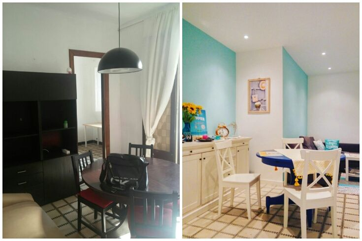 My Mediterranean style blue living room: Before&After Colourful home design ideas and shopping tips from a Barcelona-based blogger. #salon #interiorismo #decoracion