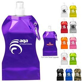 Promotional 16.9 oz Wave Collapsible Water Bottle | Customized 16.9 oz Wave Collapsible Water Bottle | Promotional Water Bottles