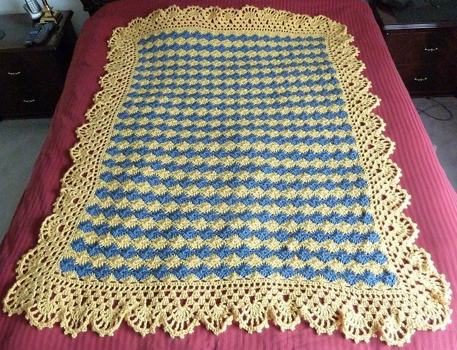 Free Crochet Pattern Afghan Edging : 73 best images about Crochet Afghans -- Edgings, Borders ...