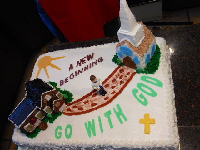 Youth Pastor Leaving For Another Church Reception Cake