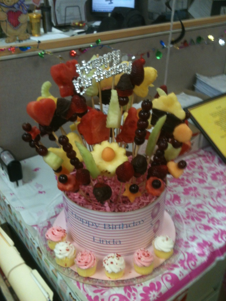 Made my own incredible edible fruit basket for a coworkers