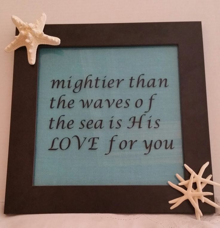 Beautiful coastal inspirational framed art with starfish by SandyToeshomedecor on Etsy