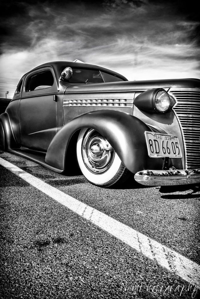 12x18 in Hot Rod Poster Vintage 1936 Ford Coupe Garage Art Man Cave Decor