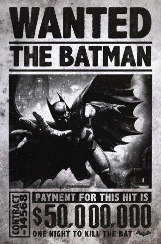 Batman Arkham Origins - Wanted poster