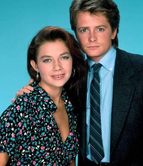 Justine Bateman and Michael J. Fox. Justine has admitting she was suffered from bulimia during her family ties years.