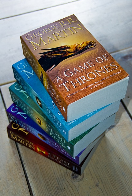"Started watching the ""Game of Thrones"" HBO series and now I'm addicted to the books... great show, great books!"