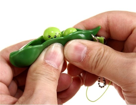 Edamame Soybean Fiddle Toy - great skin picking fiddle and super cute!