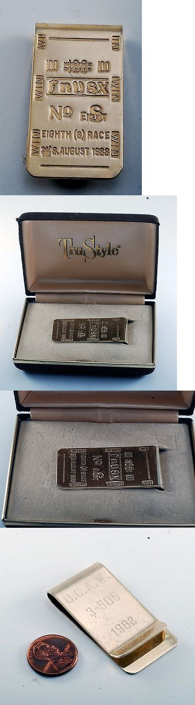 Money Clips 163583: Rare 100 No.8 Eighth Race Fnv8x August 8 1988 Gold Plated Brass Money Clip Nib -> BUY IT NOW ONLY: $139.95 on eBay!