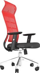 This fashionable red office chair is comfortable, sleek, and surprisingly affordable.