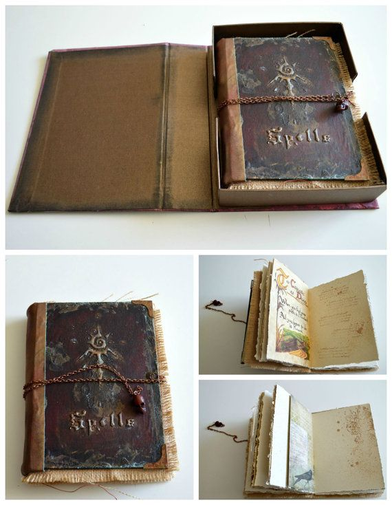 Book Of Shadows Cover Ideas : Unique handmade books ideas on pinterest book