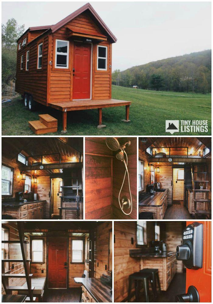 Tiny Home For Sale Custom Amish Built Tinyhouse Features 20x8 5 Kangaroo Trailer With 4 Corner Jacks Nat Tiny Houses For Sale Tiny House Listings Tiny House