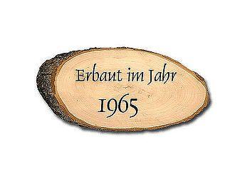 Anno-Türschild - Holzrindenschild mit Ihrem Wunschtext - Hausnummern und Schilder online kaufen