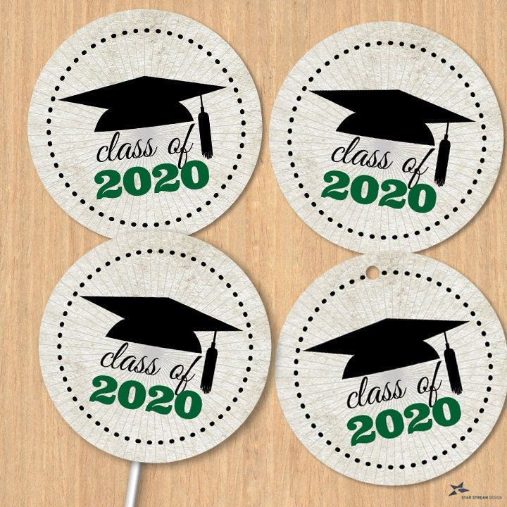 Class Of 2020 Graduation Cap 1 5 Printable Images Etsy Printing Labels Graduation Cap Tea Stained Paper