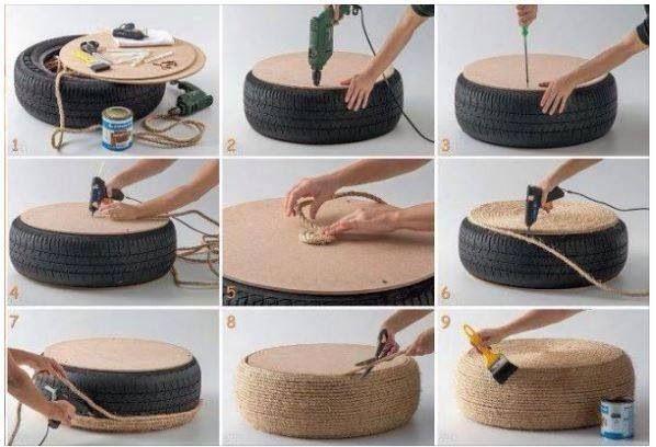 Siège fait maison avec un pneu !