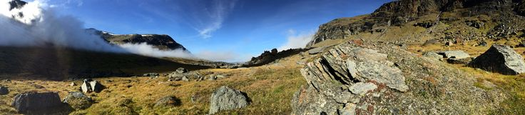 The view at Rissajaure (The walk up to Trollsjön)  Swedish Lappland